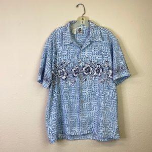 Kennington Vintage Hawaii Button Up Tee size L